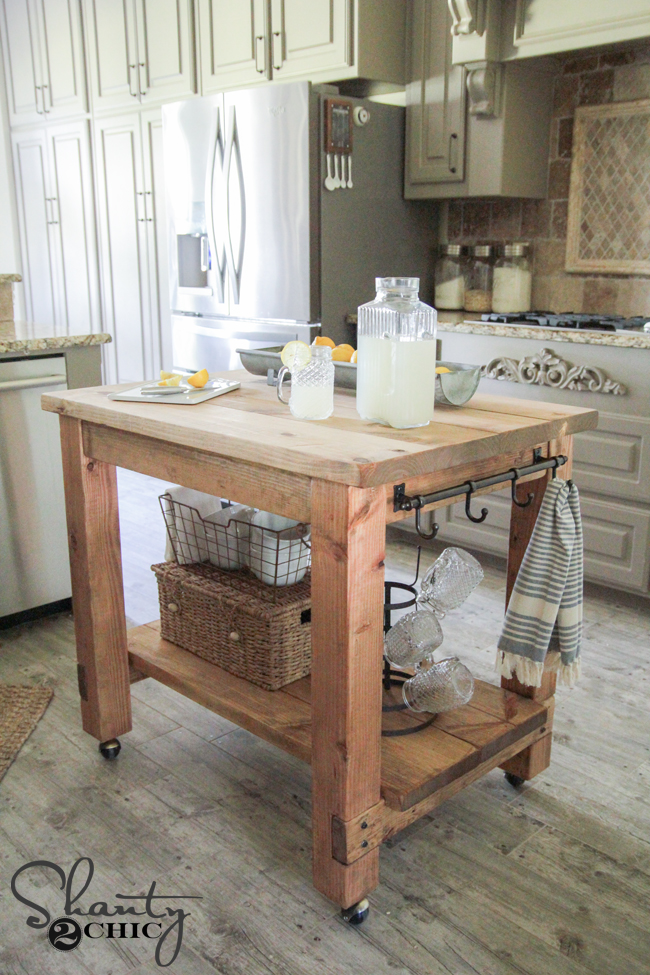Diy kitchen island free plans for Diy cooking