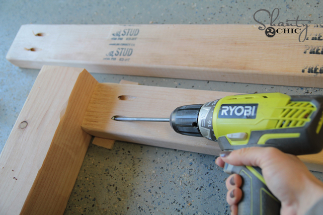 Use drill to attach pocket hole screws