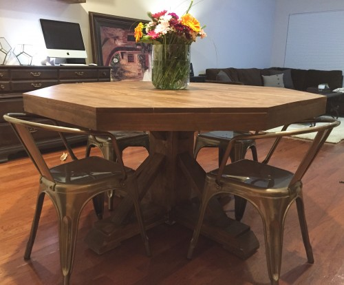 DIY Round Kitchen Table - Shanty 2 Chic