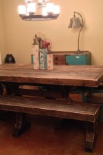 Restoration Hardware Inspired Table & Benches