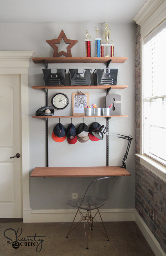 DIY Wood and Metal Desk by Shanty2Chic