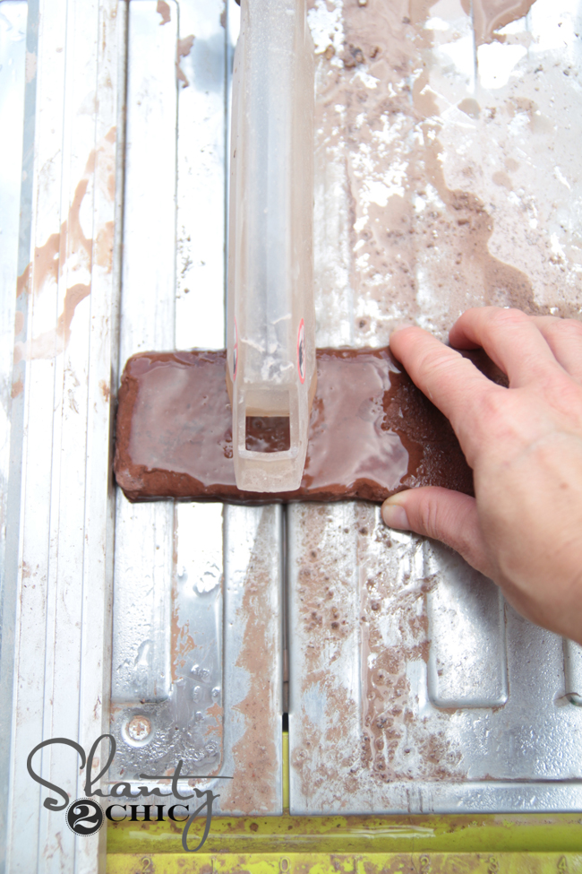How to cut thin brick