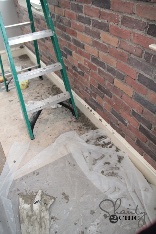 Installing a thin brick wall