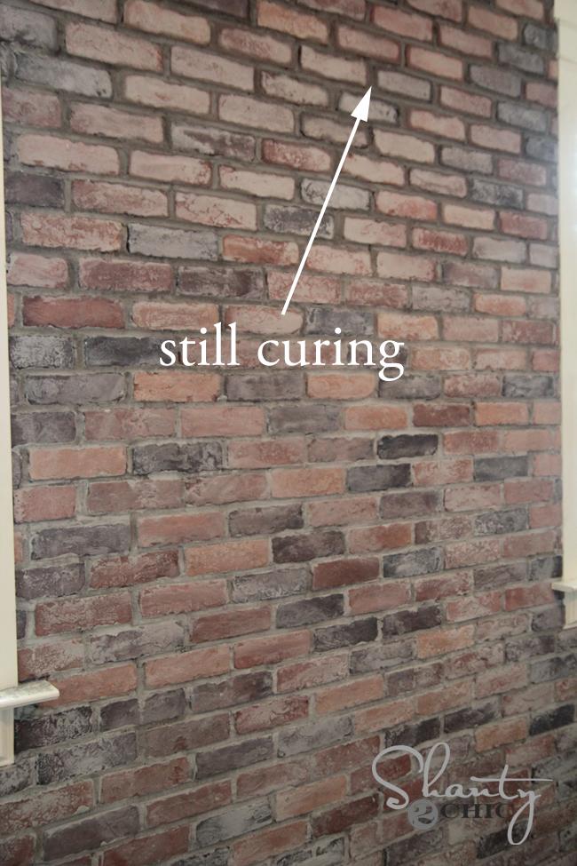 Mortar on Brick Wall