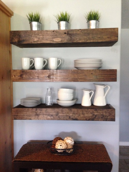 Floating shelves in dining room Shanty 2 Chic