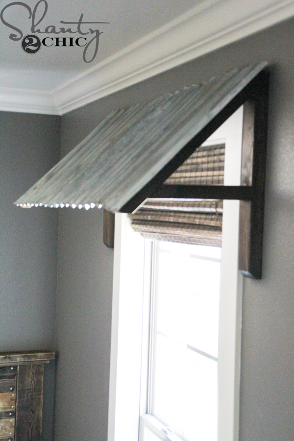 Diy Corrugated Metal Awning Window Awnings Corrugated