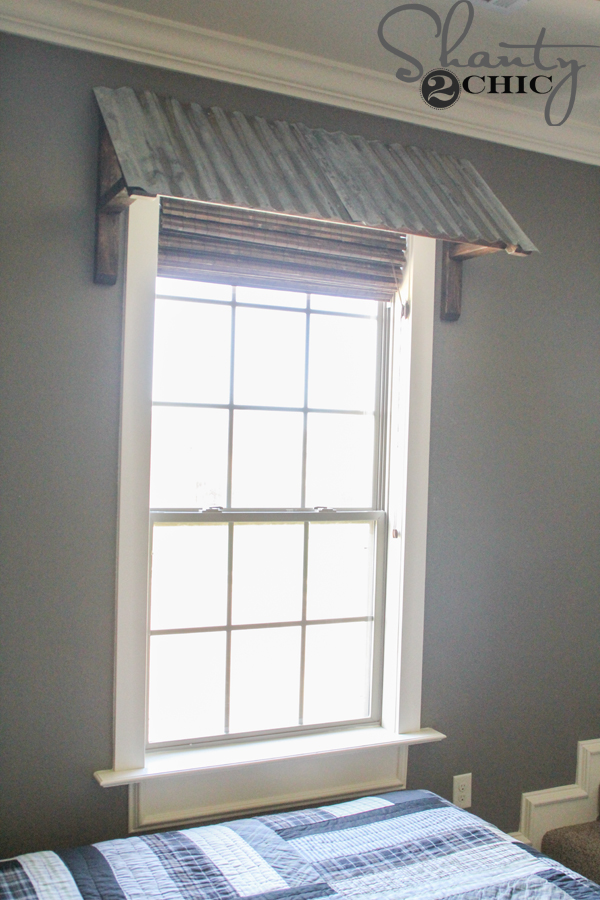 DIY Metal Window Awning