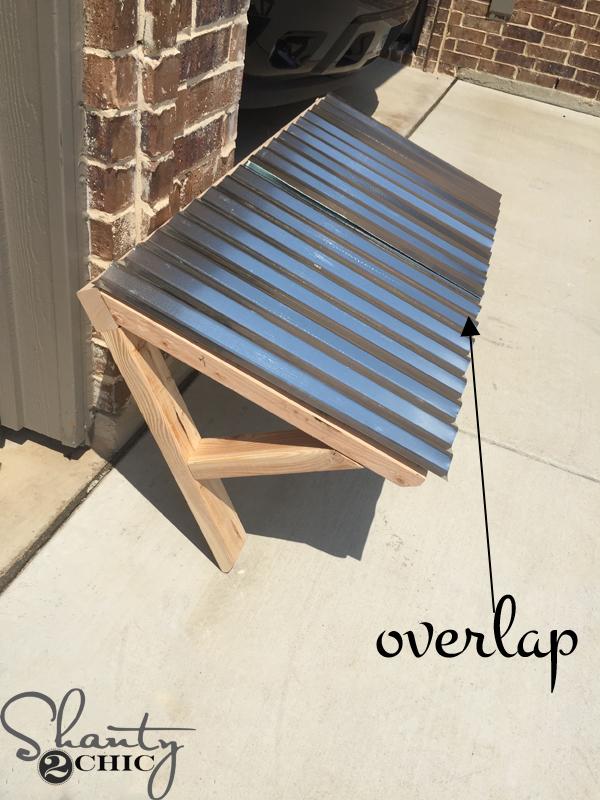 Diy corrugated metal awning shanty 2 chic cut corrugated metal to fit awning solutioingenieria Images