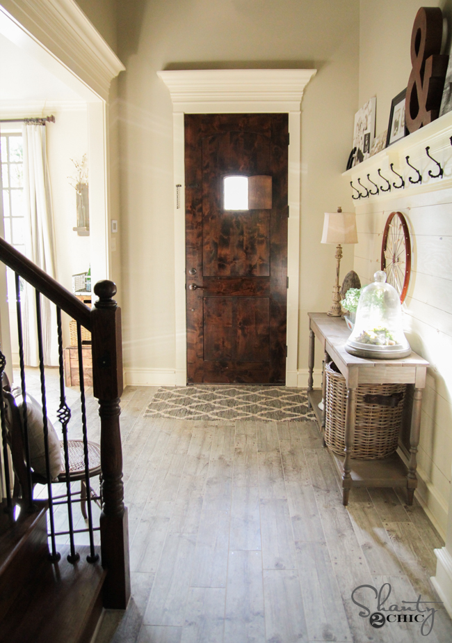 Wood And Tile Foyer : Updating the floors shanty chic