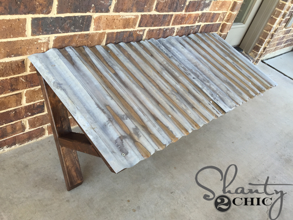 DIY Corrugated Metal Awning - Shanty 2 Chic