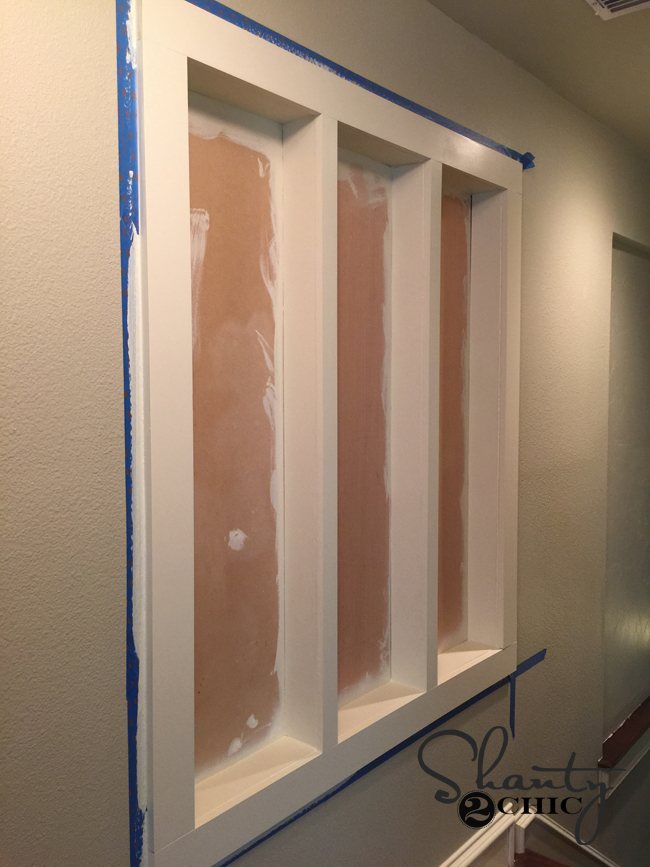 painted trim for niche