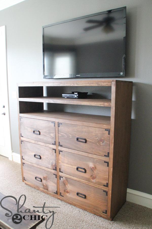 DIY Dresser With Media Storage