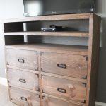 DIY Media Storage Dresser