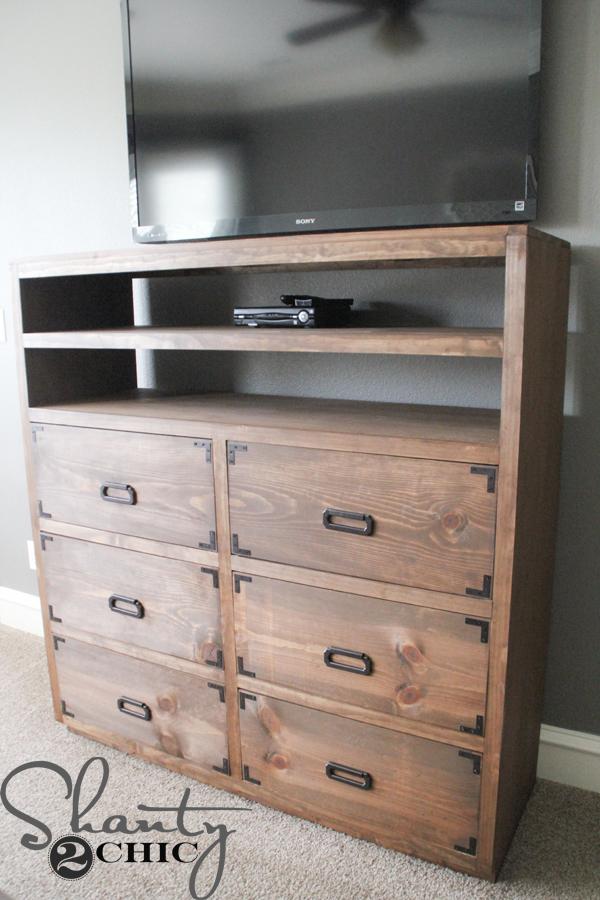 Diy Media Storage Dresser Shanty 2 Chic