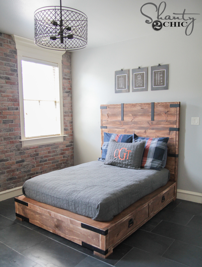 DIY Full Size Bed Shanty2Chic