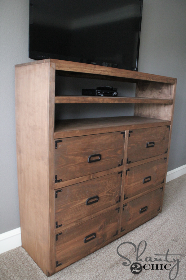 DIY Media Storage Dresser. DIY Media Storage Dresser   Shanty 2 Chic