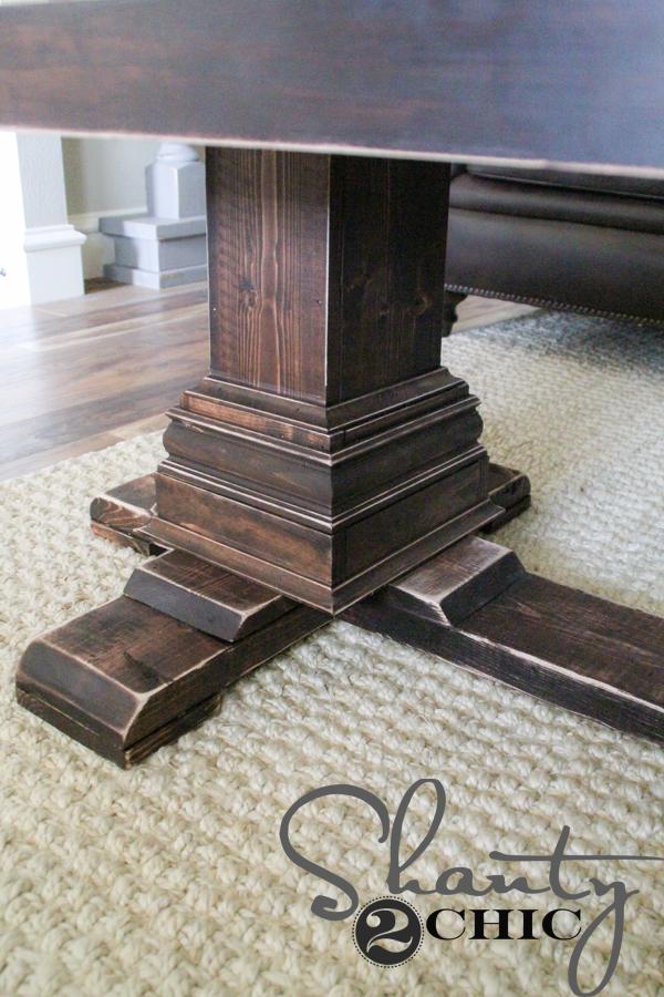 DIY Pedestal Leg Coffee Table