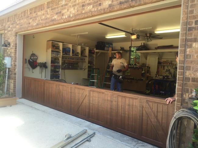 My new garage door for my shop shanty 2 chic for Design my own garage