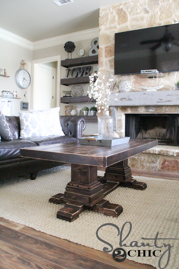 DIY Pedestal Coffee Table Shanty 2 Chic