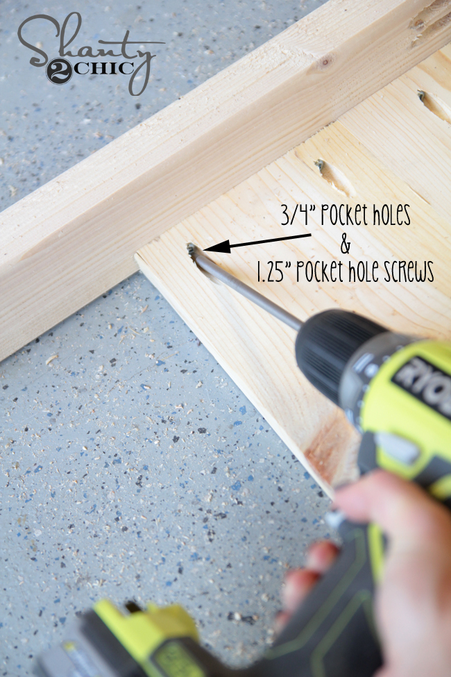 attach planks to sides