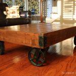 DIY Industrial Factory Cart Coffee Table