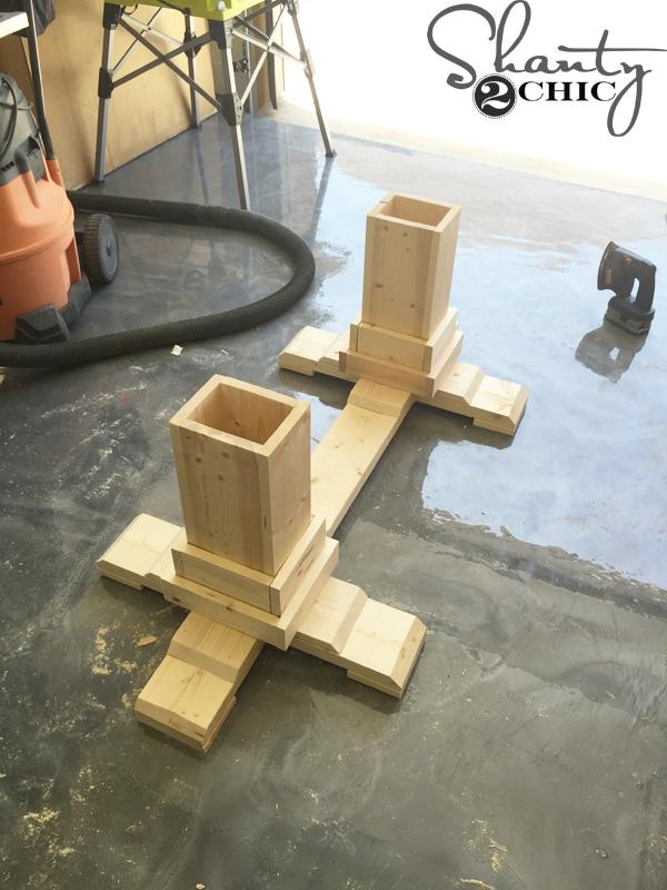 Diy Pedestal Coffee Table Shanty 2 Chic