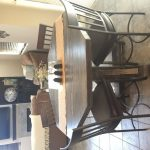 Counter Height Wooden Octagon Table