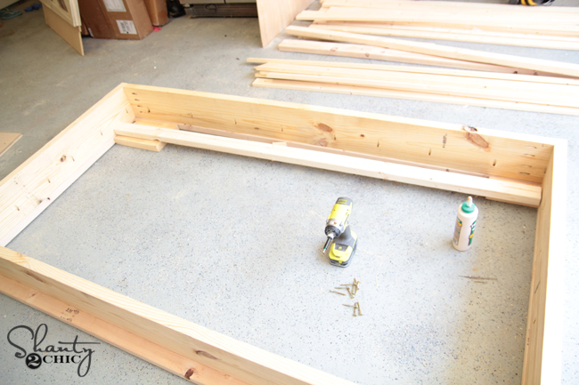how to build a sunken bed frame