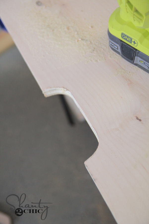 Cut handles for drawers