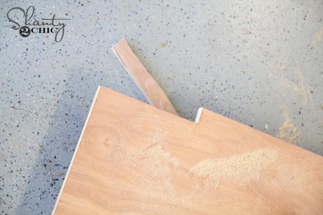 Cut notch for headboard
