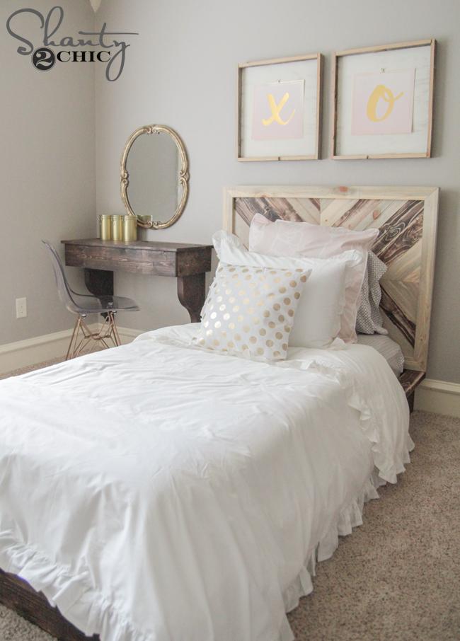 DIY Chevron Bed Plans by Shanty2Chic