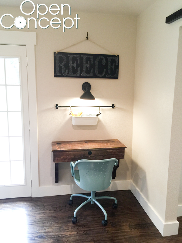 DIY Floating Student Desk as seen on HGTV Open Concept ...