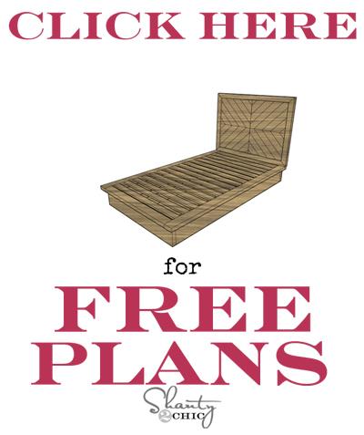 Free Chevron Bed Plans