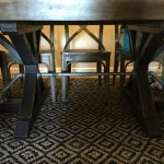 Restoration Hardware Inspired Table with an Industrial Twist