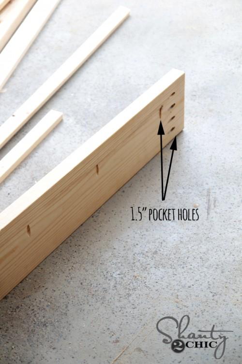Pocket holes for bed frame