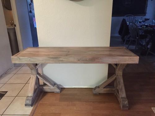 DIY Desk for $70 Faux Restoration Hardware Finish