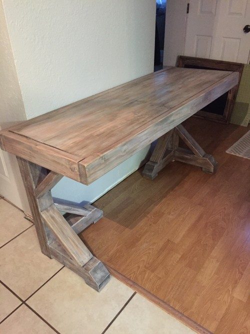 Diy Desk For 70 Faux Restoration Hardware Finish