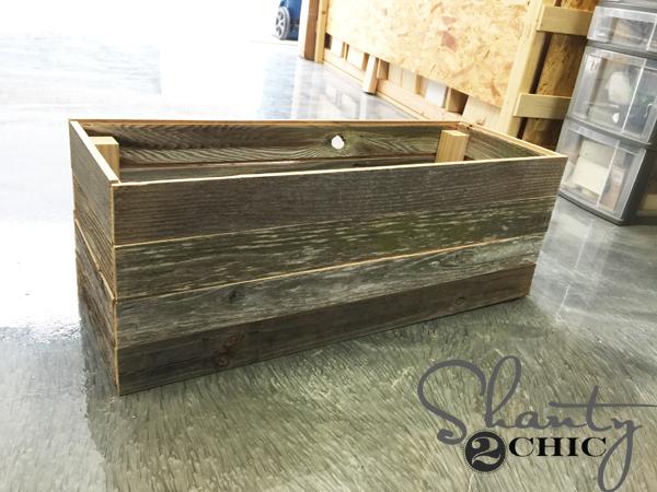 DIY Barn Wood Planter Box - Shanty 2 Chic