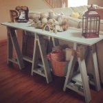 DIY Sawhorse Consol Table