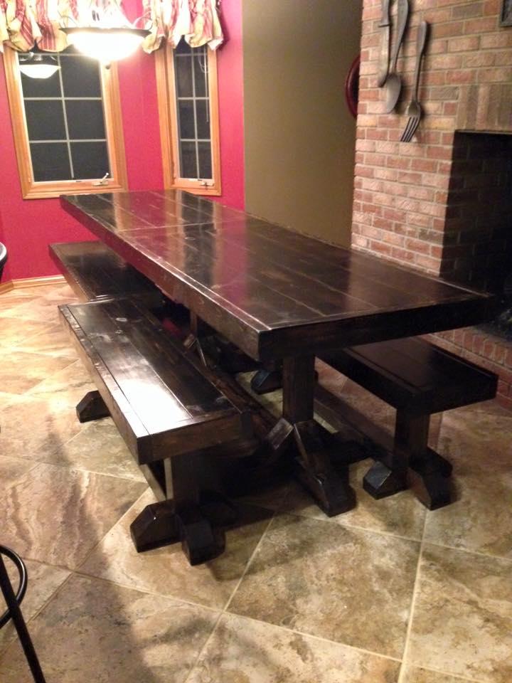 large family farm table