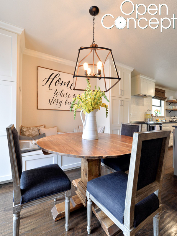 Diy Round Table As Seen On Hgtv Open Concept Shanty 2 Chic - diy round dining table