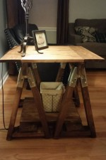 Sawhorse end table