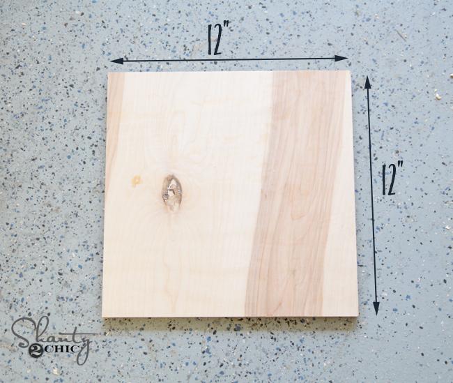 Wood for frame