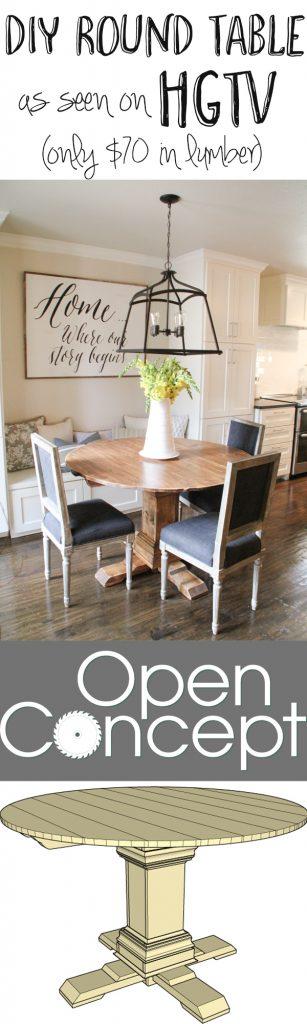 Pedestal Coffee Table DIY