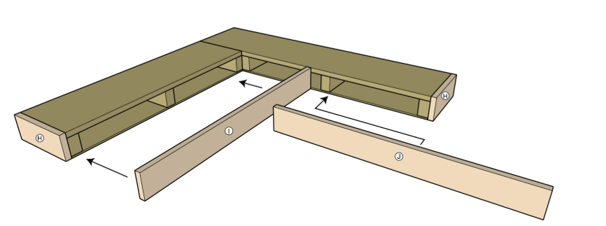 Attach front boards