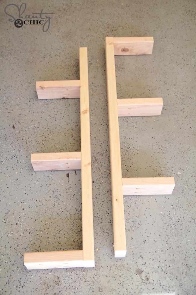 Building the shelf braces