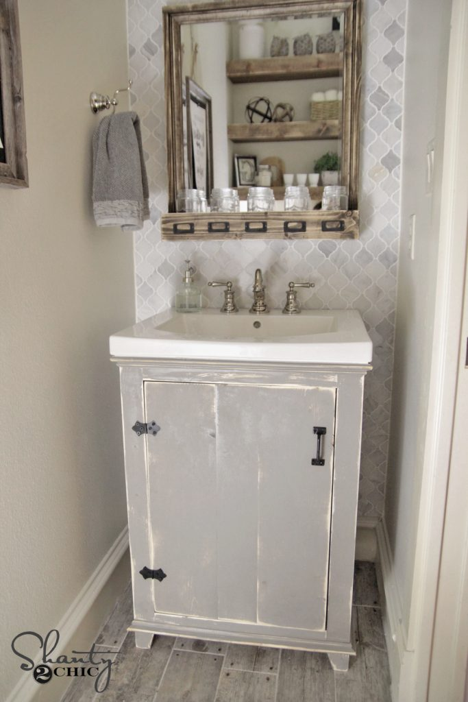 Diy bathroom vanity plans - Diy Bathroom Vanity Shanty2chic