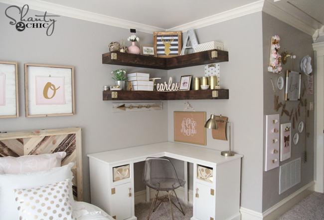 Diy Floating Corner Shelves Free Plans