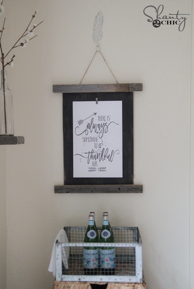 DIY Frame and Free Printable by Shanty2Chic