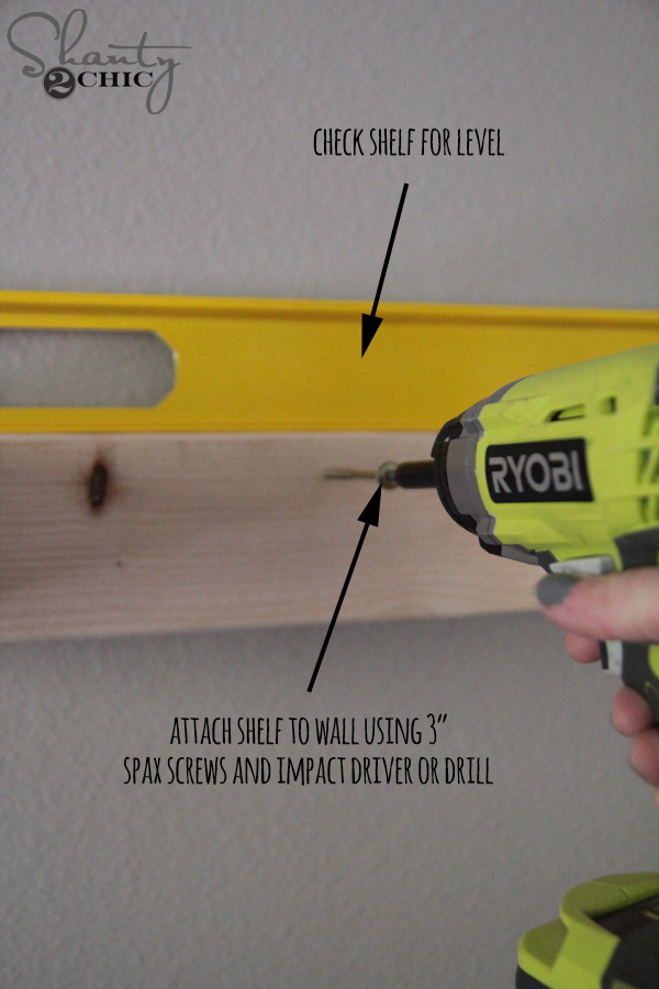 how to attach a floating shelf to a wall
